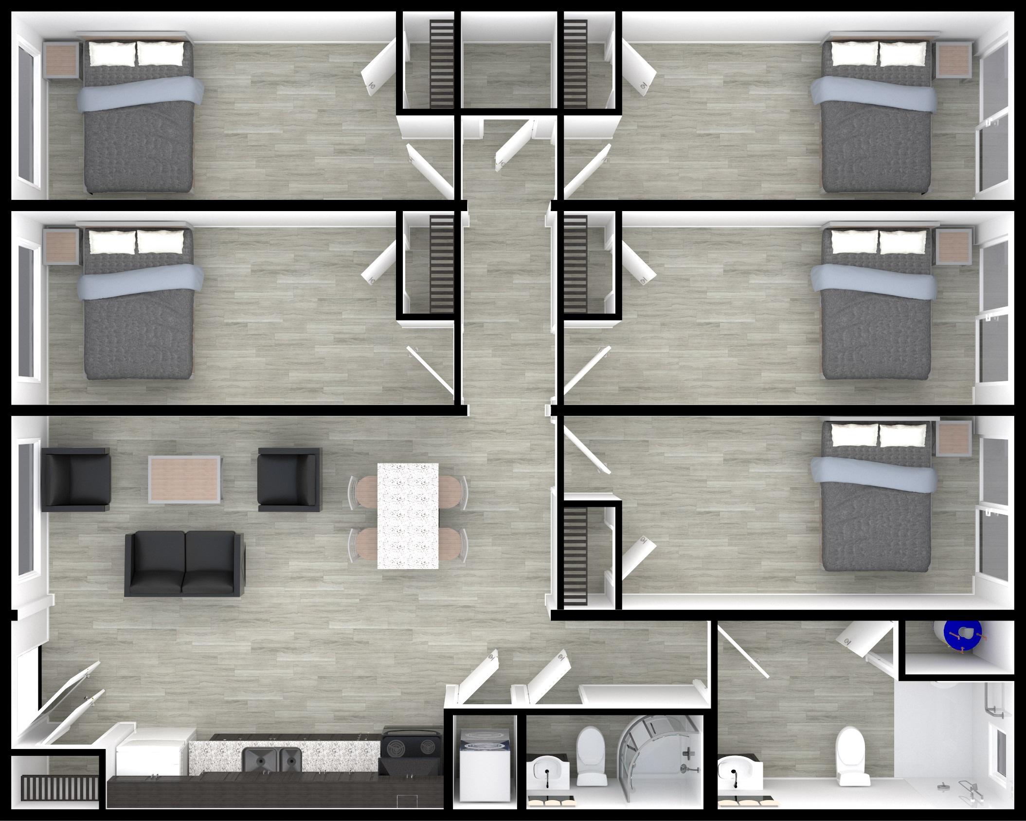 NOW Housing - Multibedroom (5 bed, 2 bath)